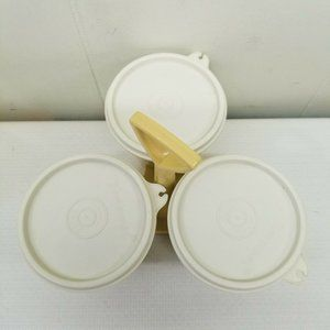 Tupperware Kitchen - Tupperware Harvest Gold Caddy 757 Containers Lids